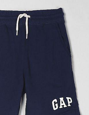 GAP Blue Toddler Boy Logo Knit Shorts