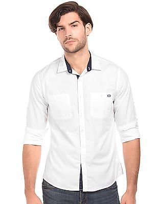 Colt Solid Regular Fit Shirt