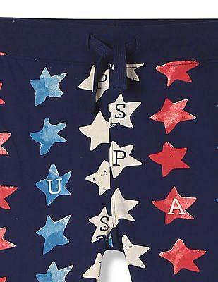 U.S. Polo Assn. Kids Boys Star Print Knit Shorts