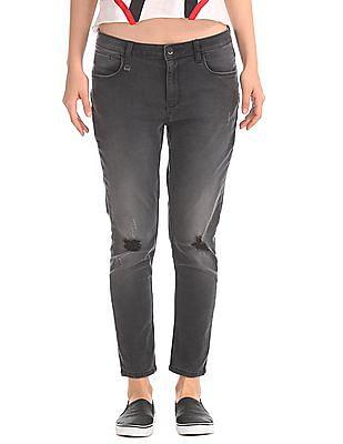 EdHardy Women Super Skinny Destructed Jeans