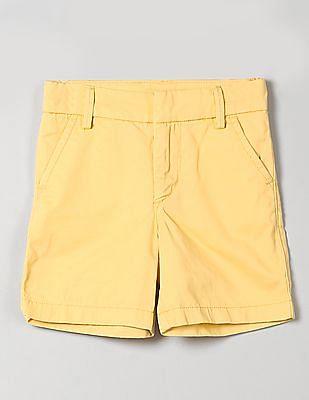 "GAP Boys Yellow 5"" Everyday Shorts In Twill"