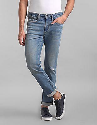 GAP Blue Slim Fit Faded Jeans