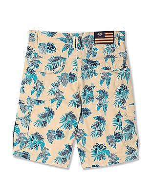 U.S. Polo Assn. Kids Boys Floral Print Cargo Shorts