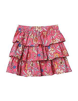 GAP Baby Pink Floral Ruffle Skirt