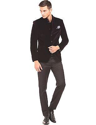Arrow Velvet Regular Fit Bandhgala