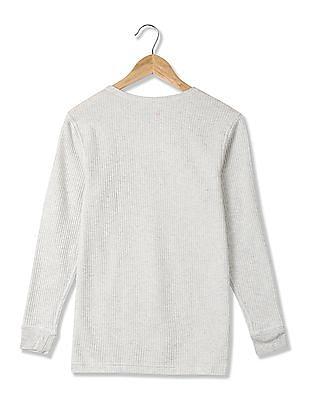 USPA Innerwear Ribbed Knit Thermal T-Shirt