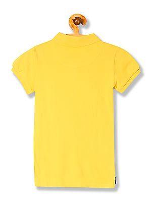 U.S. Polo Assn. Kids Girls Short Sleeve Polo Shirt