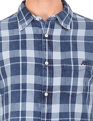 Aeropostale Washed Plaid Check Shirt