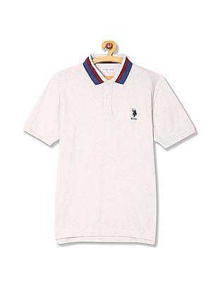 U.S. Polo Assn. Heathered Pique Polo Shirt