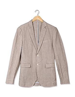 U.S. Polo Assn. Single Breasted Patterned Check Blazer