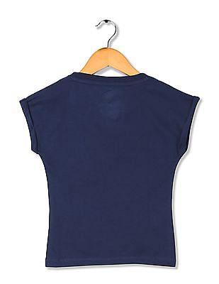 U.S. Polo Assn. Kids Girls Brand Applique Knit Top