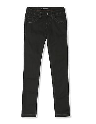 Flying Machine Women Grey Twiggy Super Skinny Fit Low Waist Jeans