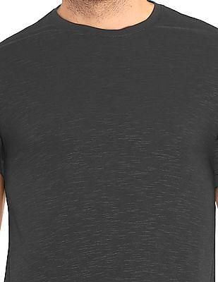 Ruggers Grey Round Neck Heathered T-Shirt
