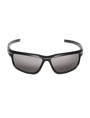 Colt Rectangular Frame Solid Sunglasses