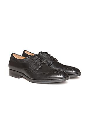 Johnston & Murphy Wingtip Leather Derby Shoes