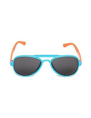 Unlimited Boys Round Frame Colour Block Sunglasses