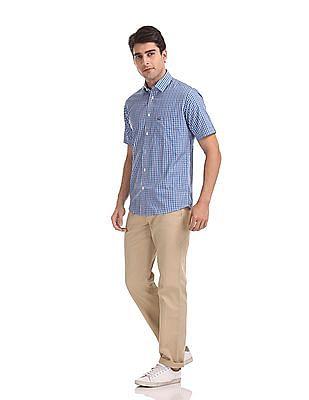 Arrow Sports Regular Fit Patterned Trousers