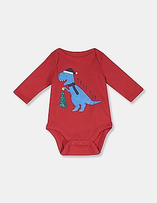 GAP Baby Red Graphic Long Sleeve Bodysuit