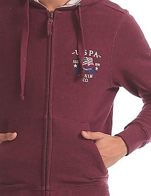U.S. Polo Assn. Denim Co. Zip Up Hooded Sweatshirt