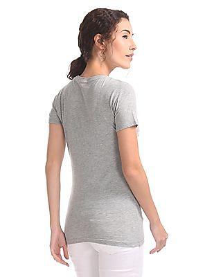 Aeropostale Appliqued Branding Regular Fit T-Shirt