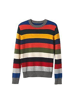 GAP Boys Crazy Stripe Crew Sweater