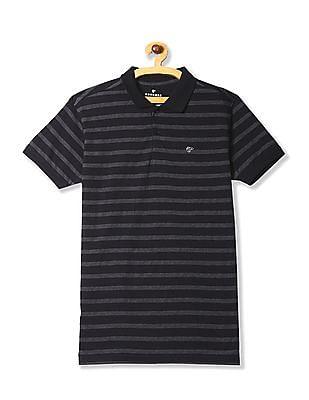 Ruggers Black Horizontal Stripe Polo Shirt