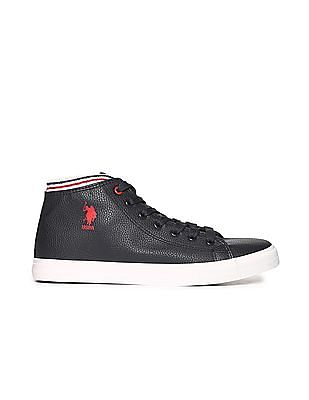U.S. Polo Assn. High Ankle Textured Sneakers