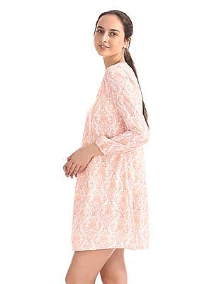 Cherokee Paisley Print A-Line Dress