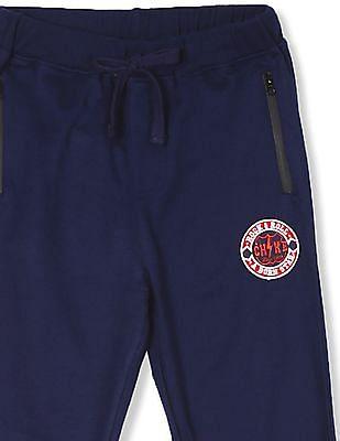 Cherokee Blue Boys Zip Pocket Knit Joggers