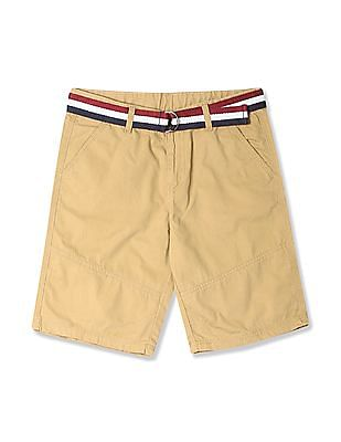 Cherokee Boys Belted Cotton Shorts