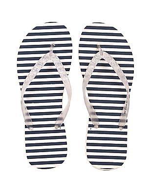 SUGR Nautical Striped Flip Flops