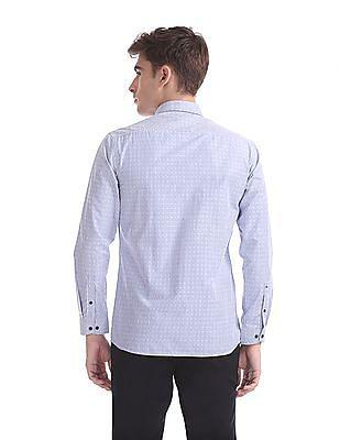 Arrow Newyork Snug Skinny Fit Vertical Stripe Shirt