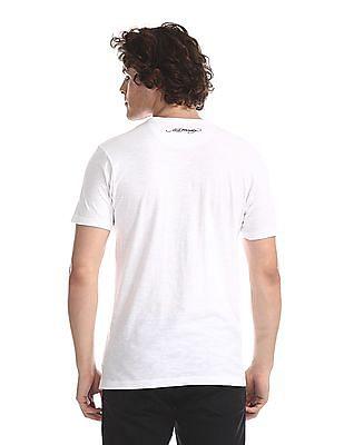 Ed Hardy White Skull Graphic Slub T-Shirt