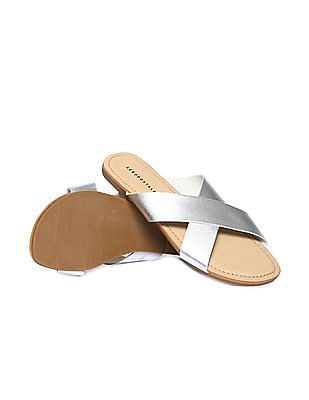 Aeropostale Criss Cross Strap Sandals