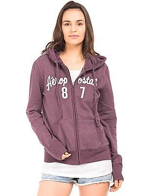 Aeropostale Hooded Appliqued Sweatshirt