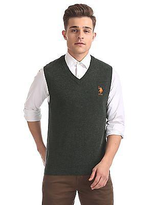 U.S. Polo Assn. V-Neck Sleeveless Sweater