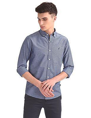 Nautica Long Sleeve Horizontal Stripe Shirt