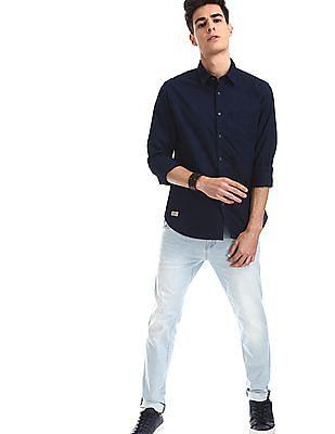 Ed Hardy Blue Dagger Slim Fit Faded Jeans