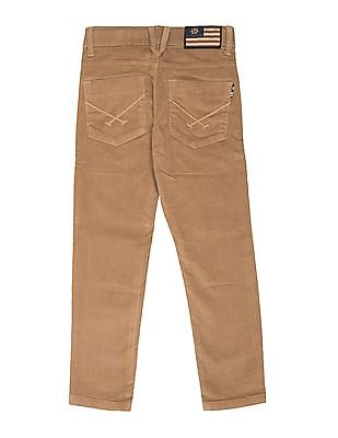 U.S. Polo Assn. Kids Boys Mid Rise Corduroy Trousers
