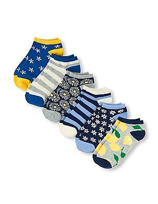 The Children's Place Girls Lemon Pattern Ankle Socks - Pack Of 6