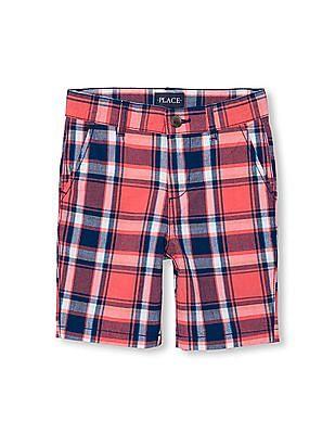 The Children's Place Boys Plaid Woven Shorts