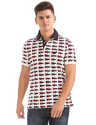 Nautica Short Sleeve Signal Flag Polo