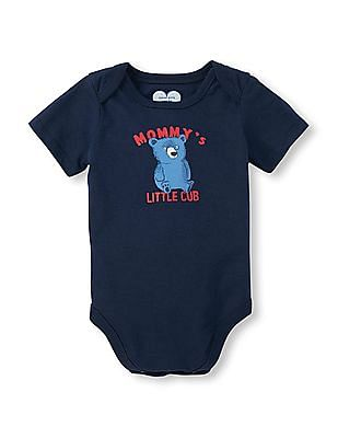 The Children's Place Baby Boys Short Sleeve 'Mommy's Little Cub' Little Talker Bodysuit