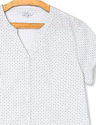 Arrow Woman Regular Fit Dot Print Shirt
