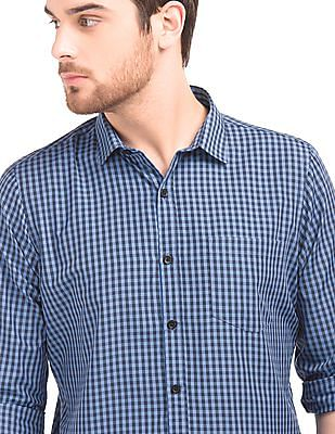Excalibur Tattersall Check Slim Fit Shirt