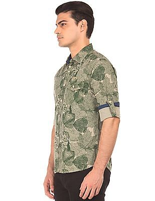 Cherokee Regular Fit Printed Shirt