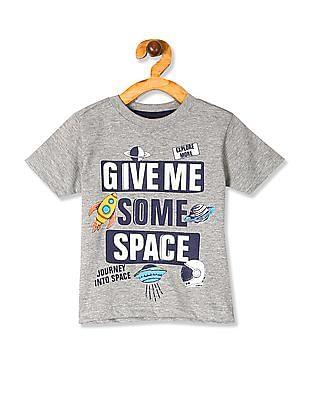 Cherokee Grey Boys Crew Neck Melange T-Shirt