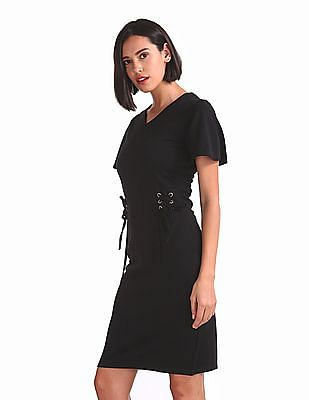 Elle Studio V-Neck Sheath Dress