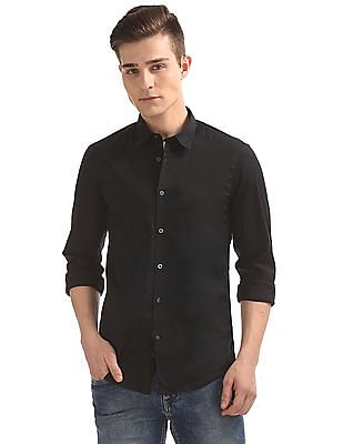 Flying Machine Slim Fit French Placket Shirt