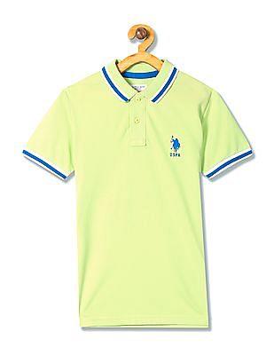 U.S. Polo Assn. Kids Boys Solid Polo Shirt